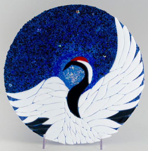 Japanese Crane by Linda Oeffling