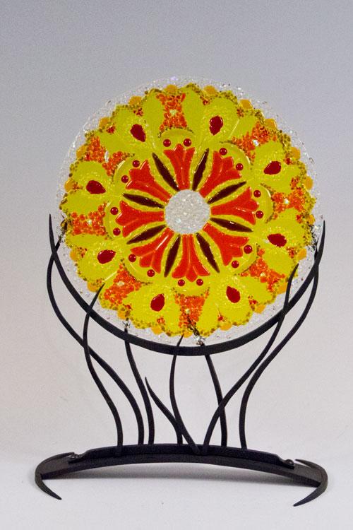 Sun Kaleidescope Mandala by Linda Oeffling